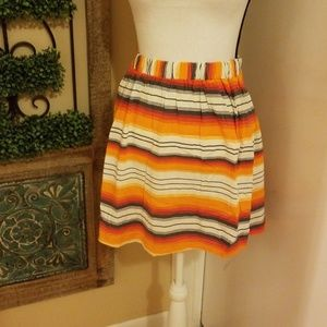 French connection striped skirt with pockets